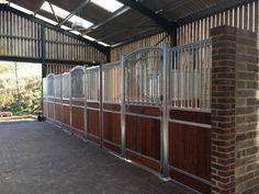horse stalls at Scott Brash's yard, UK Horse Stalls, Horse Barns, Horses, Dream Stables, Dream Barn, Horse Walker, Horse Stuff, Equestrian, Yards
