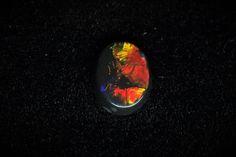 0.38 Cts Lightning Ridge Black Opal Oval Loose Gem by MsOpalWorld on Etsy
