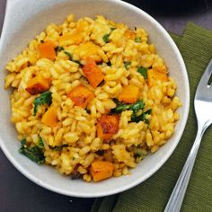 Butternut Squash and Kale Risotto.