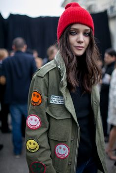 They Are Wearing: Milan Fashion Week Fall 2015 | WWD #lostangeles #patches #ALM