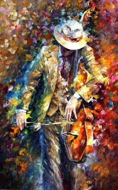 Misty Musician - oil on canvas by Leonid Afremov http://leonidafremov.deviantart.com/ #painting #art #colors