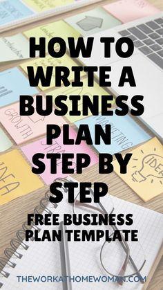 Free Business Plan, Writing A Business Plan, Business Advice, Start Up Business, Business Motivation, Business Entrepreneur, Online Business Plan, Business Plan Template Free, Ideas For Business