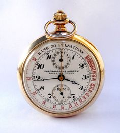 Vintage Pocket Watch MORROW Chronograph Chaux De Fonds 51mm 1940c Working  #MORROW #OpenFace
