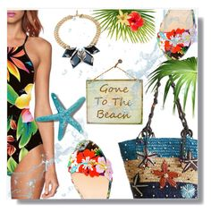 """""""Gone to the beach!"""" by wannanna ❤ liked on Polyvore featuring Christian Louboutin"""