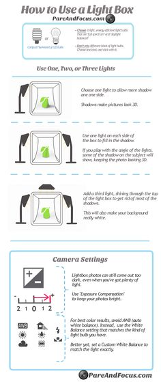 Digital Photography Product Tips for Amateurs Infographic is one of the best Infographics created in the Other category. Check out Digital Photography Tips for Amateurs now! Photography Cheat Sheets, Photography Lessons, Light Photography, Photography Tutorials, Digital Photography, Lightbox For Photography, Landscape Photography, Photography Ideas, Photography Lighting Setup