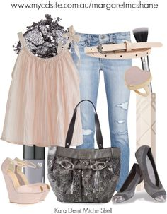 """""""Kara Demi Miche Shell"""" by mcshanes on Polyvore"""