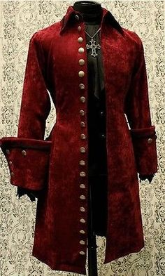 SHRINE GALLEON VELVET GOTHIC VAMPIRE VICTORIAN PIRAT COAT JACKET GOTH STEAMPUNK  | Clothing, Shoes & Accessories, Men's Clothing, Coats & Jackets | eBay!