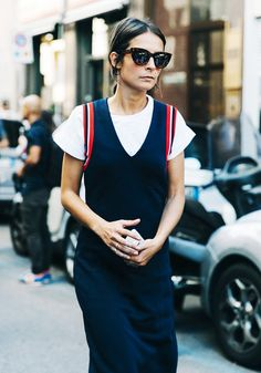 How to Style Your White T-Shirt Now via @WhoWhatWearUK