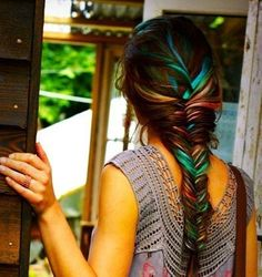 hair chalk & fishtail