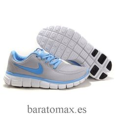 buy online 38701 ed2e7 Cheap Cheapest Nike Free Women Running Shoes Grey And Blue Shoes Clearance  Store