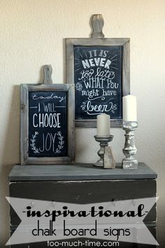 Beautiful Inspirational Chalk Board Messages and Chalk Art from Too Much Time on My Hands