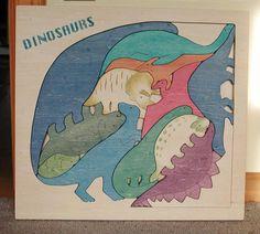 wooden puzzle / dinosaur