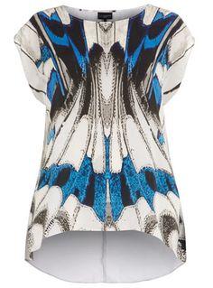 Live Unlimited Oberteil mit Viereckausschnitt und Schmetterlings-Print - Kleidung