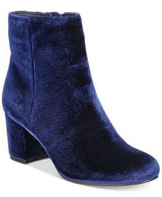 Rebel by Zigi Nanon Block-Heel Booties | macys.com