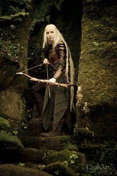 Archer armure cuir femme