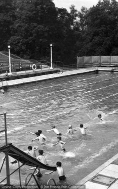Trentham, Swimming Pool c1955