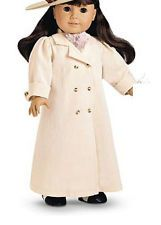 Samantha American Girl Travel Duster Trench Coat & Scarf 2Pcs NEW RETIRED