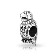 Bling Jewelry Parrot Animal Bead Charm .925 Sterling Silver *** You can find out more details at the link of the image. #Charms