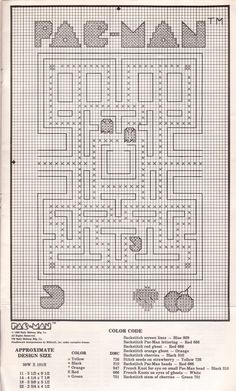 cross stitch patterns | ... are some super huge versions of the Pac-Man cross stitch patterns