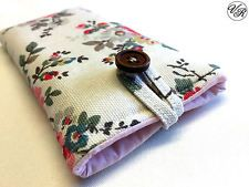 iPhone Padded Case / Sleeve Made in Cath Kidston Kingswood Ivory Rose All Sizes