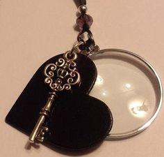 Magnifying Glass Black Heart  Skeleton Key by JENSTARDESIGNS, $24.99