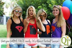 Are you Football Ready? Game Day is quickly approaching and, if you're like me, you've been practicing intimidation expressions in the m. Game Face, Football Fans, Queen, Games, Dresses, Style, Plays, Gowns, Show Queen