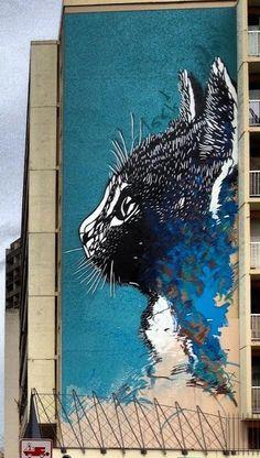 Street Art Graffiti New Mural In Paris, France Murals Street Art, 3d Street Art, Street Art News, Amazing Street Art, Mural Art, Street Art Graffiti, Street Artists, Amazing Art, Graffiti Artists