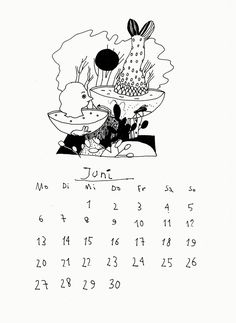 Der zittrige Kalender 2016 (B) on Behance