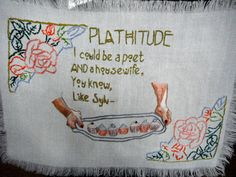 Plathitude Sylvia Plath Embroidery by poesiegrenadine on Etsy,