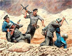 ARMATA ROSSA - Fanti di Marina sovietici all'assalto di una posizione di Fanteria tedesca 1941-1942. Andrey Karashchuk