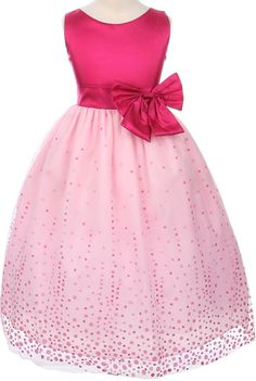 pink flower girl dress... Love this for Hailey