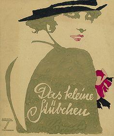 Ludwig Hohlwein, Das Kleine Stubchen Vintage Advertising Posters, Vintage Advertisements, Vintage Posters, Vintage Art, Vintage Prints, Modern Posters, Art Deco Illustration, Illustrations, Graphic Illustration