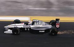 Satoru Nakajima of Japan drives the Braun Tyrrell Honda Tyrrell 020 Honda 35 V10 during the Mexican Grand Prix on 16th June 1991at the Autodromo...