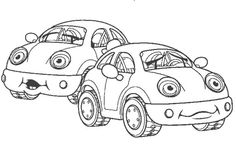 crazy car coloring pages - photo#14