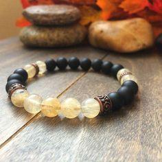 Mothers Day Gift Natural Citrine Bracelet Meditation