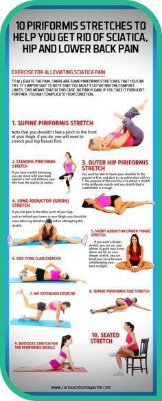 Sciatica Stretches, Muscle Stretches, Sciatic Pain, Sciatic Nerve, Piriformis Exercises, Lower Back Pain Exercises, Hip Pain, Nba, Piriformis Muscle