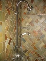 Slate or Ceramic in rebuilt shower? Master Bath Tile, Bath Tiles, Slate Shower, Next At Home, Tile Patterns, Sink, New Homes, Ceramics, Baths
