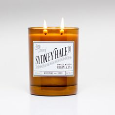 Woodsmoke & Amber  soy candle by sydneyhaleco on Etsy, $28.00