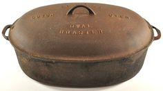 """GRISWOLD Cast Iron No 9 Dutch Oven Large Oval Roaster 18"""""""