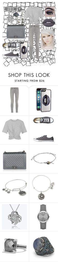 """""""Let it go (xGravityx tag)"""" by sophia-pawz ❤ liked on Polyvore featuring Frame Denim, Zero Gravity, T By Alexander Wang, Converse, Chanel, Alex and Ani, Burberry, David Yurman, Stephen Dweck and Lime Crime"""