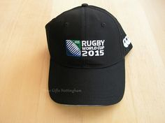 Rugby World Cup 2015 Caps - RWC2015 Rugby Logo Cap Black R30031 #FineGiftsNottingham #RugbyWorldCup2015LogoCapBlack 2015 Rugby World Cup, Baseball Hats, Beanie, Cap, Logos, Black, Baseball Hat, Baseball Caps, Black People