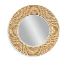 Bassett Mirror Company Pan Pacific Palimar Wall Mirror in Sisal Rope Frame Round Mirror With Rope, Rope Mirror, Rope Frame, Circular Mirror, Round Wall Mirror, Diy Mirror, Round Mirrors, Wall Mirrors, Mirror Bedroom