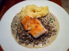 Roasted Cod with Wild Fennel Pollen and Truffled Puy Lentils. - Fine Dining Recipes | Food Blog | Restaurant Reviews | Fine Dining At Home