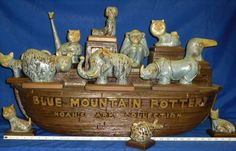 Over 60 years ago, Blue Mountain's future turned on the potter's wheel. Many a yard-sale table has . Noahs Ark Theme, Noahs Arc, Tiffany Art, Rookwood Pottery, Ceramic Materials, Blue Mountain, Clay Art, Pottery Art, Pet Birds