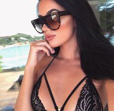 Flat Top Oversize Tortoise Sunglasses