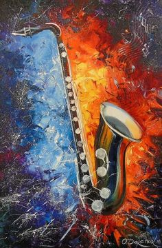 Buy The saxophone, Oil painting by Olha Darchuk on Artfinder. Discover thousands…