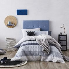 Kejo Quilted Quilt Cover Set Grey