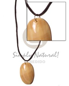 Pasalubong Cord Polished 40mm Oval Unisex Necklace Wholesale Jewelry