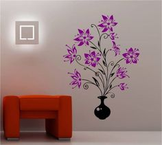 HUGE-VASE-OF-FLOWERS-wall-art-sticker-vinyl-BEDROOM