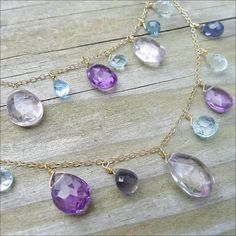 Layered Briolette Necklace
